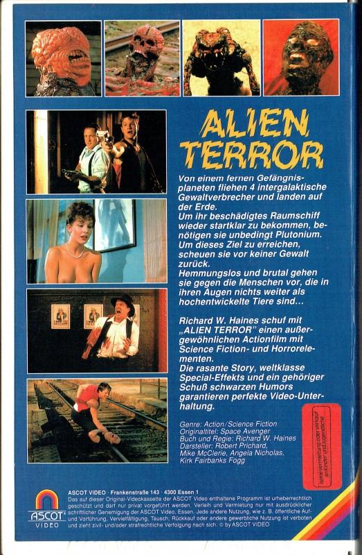 (VHS) Alien Terror - Ascot Video - Große Box - ungekürzt