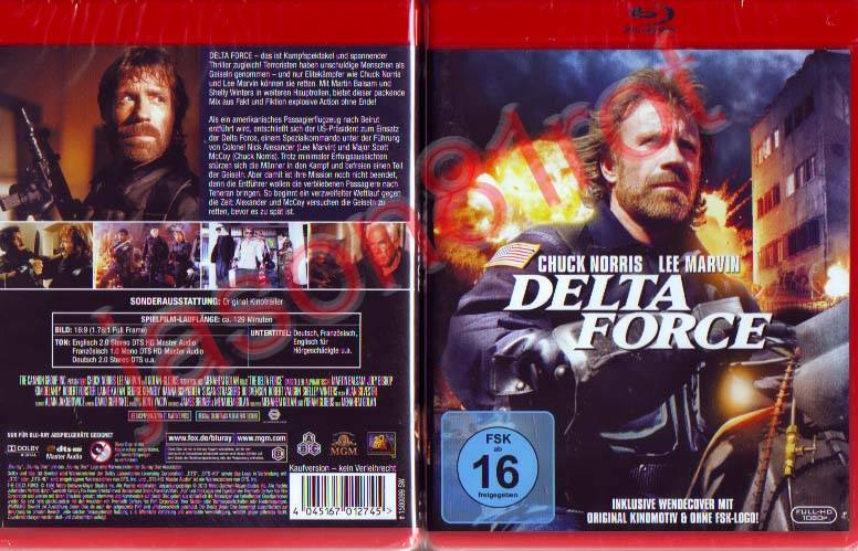 Delta Force / Blu Ray NEU OVP uncut Chuck Norris