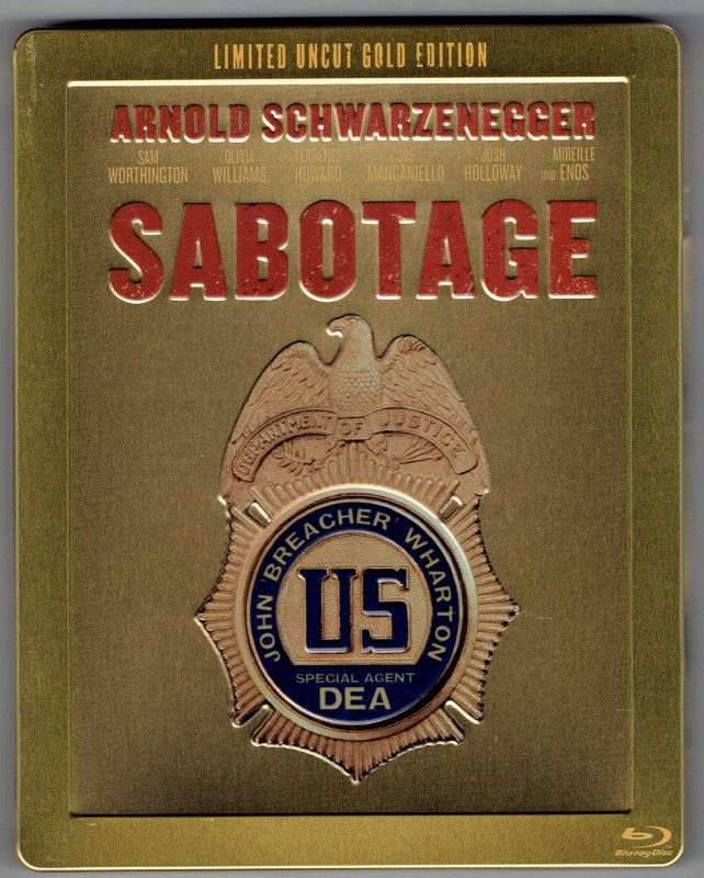 Sabotage - Steelbook Limited Uncut Gold Edition - Blu-ray