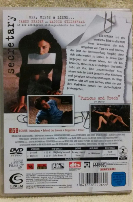 Secretary DVD Uncut (D)