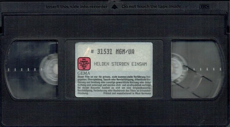 (VHS) Helden sterben einsam - uncut Version - MGM-Große Box