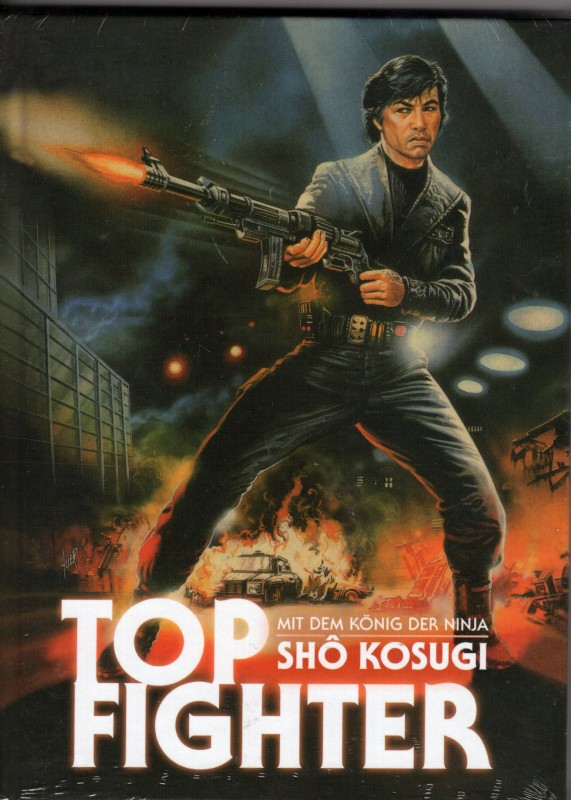 TOP FIGHTER Limited Mediabook Blu-ray + DVD Sho Kosugi Kult