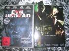 EVIL UNDEAD DVD + NIGHTMARE MAN UNCUT DVD NEU OVP