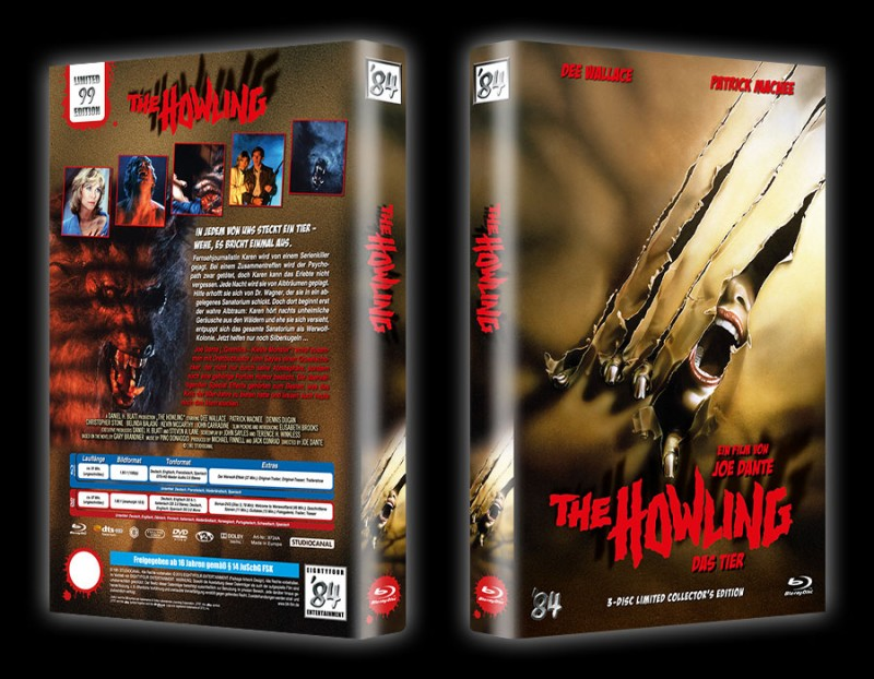 Das Tier (The Howling) gr. Hartbox A (Blu Ray+DVD) NEU/OVP