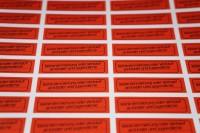 """84 FSK-Sticker """"KEINE VERMIETUNG ODER VERKAUF * Retro"""
