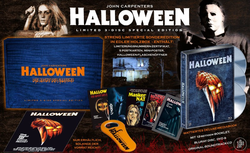 Halloween - Blu Ray - Holzbox mit Mediabook