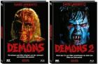 Demons 1+2 Mediabook jeweils Cover B - XT NEU/OVP