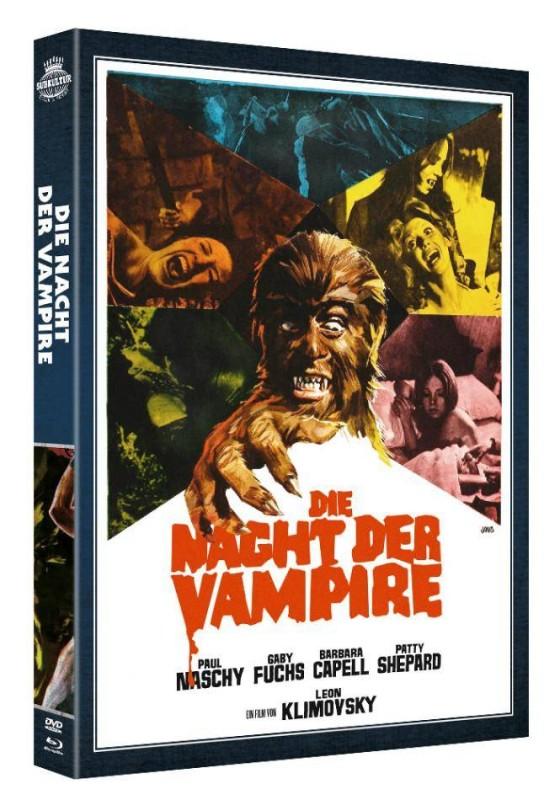 DIE NACHT DER VAMPIRE - DVD/Blu-ray Schuber Lim 1500 OVP