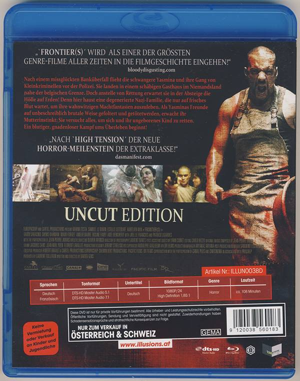 FRONTIERS - UNCUT - BLU-RAY