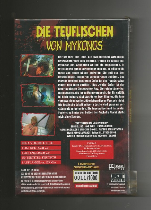 DIE TEUFLISCHEN VON MYKONOS # XT VIDEO + NR. 0011/1000