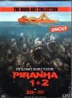 PIRANHA 1 & 2 Blu-ray Mediabook limitiert 2D + 3D uncut Kult