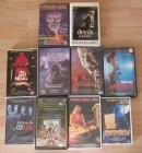 10 Horrorflime 10 VHS Raritäten 10 x Kult