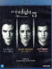 DIE TWILIGHT SAGA 1-3 - 3x Blu-ray Twilight New Moon Eclipse