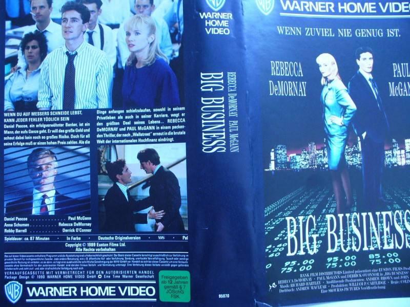 Big Business ... Rebecca DeMornay, Paul McGann ...  VHS !!