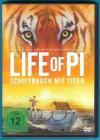 Life of Pi - Schiffbruch mit Tiger DVD Suraj Sharama NEUWERT