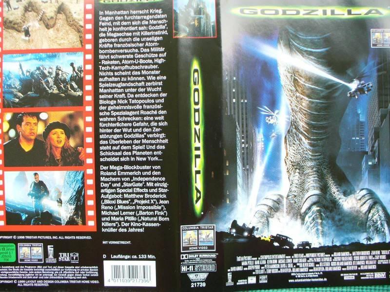 Godzilla ... Matthew Broderick, Jean Reno  ...  VHS !!