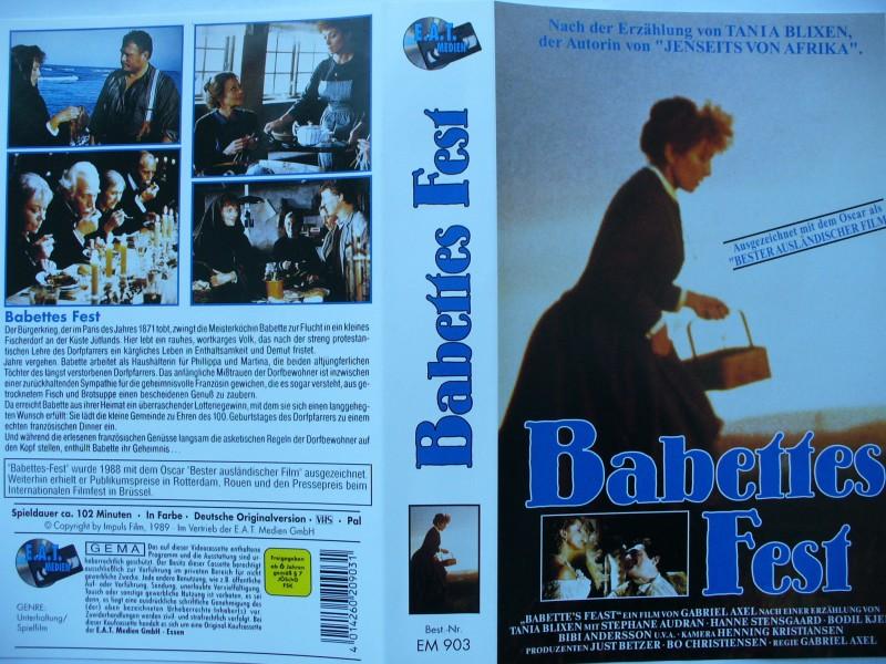 Babettes Fest ... Stephane Audran, Hanne Stensgaard .. VHS !