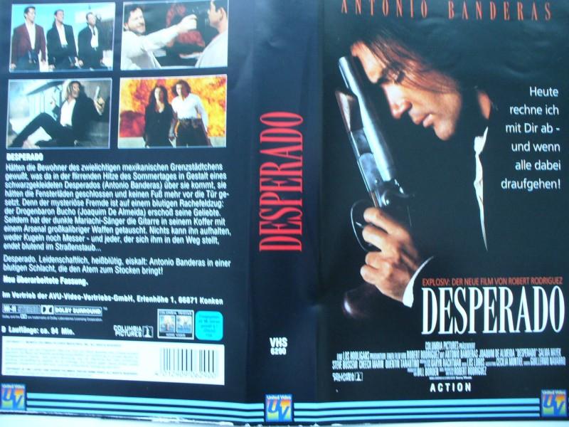 Desperado ... Antonio Banderas, Salma Hayek  ...  VHS !!!