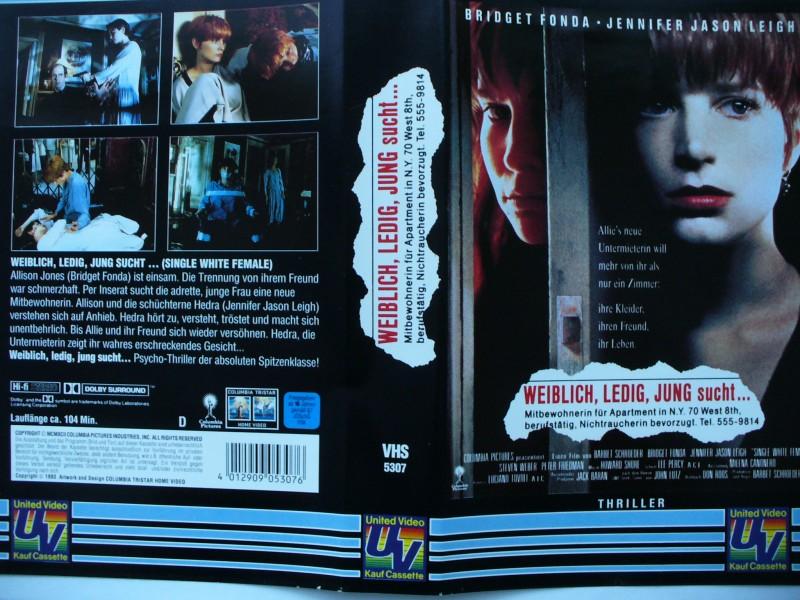 Weiblich, ledig, jung sucht ... Bridget Fonda ...  VHS  !!!