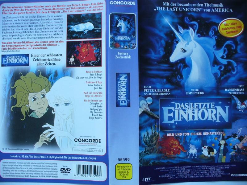 Das letzte Einhorn ...  Zeichentrickfilm  !!!