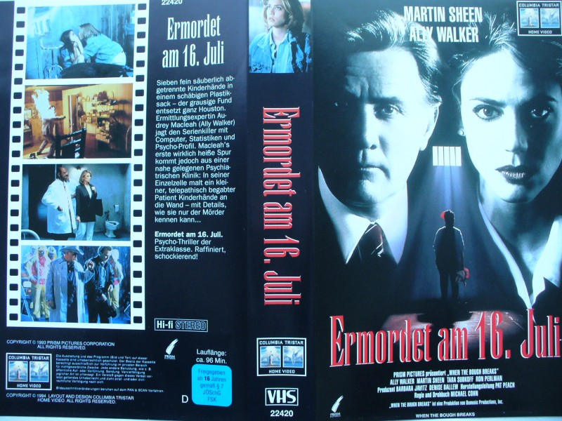 Ermordet am 16. Juli ... Martin Sheen, Ally Walker ...  VHS