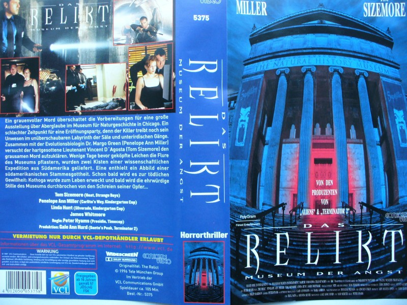 Das Relikt ... Penelope Miller, Tom Sizemore  ...  VHS !!!