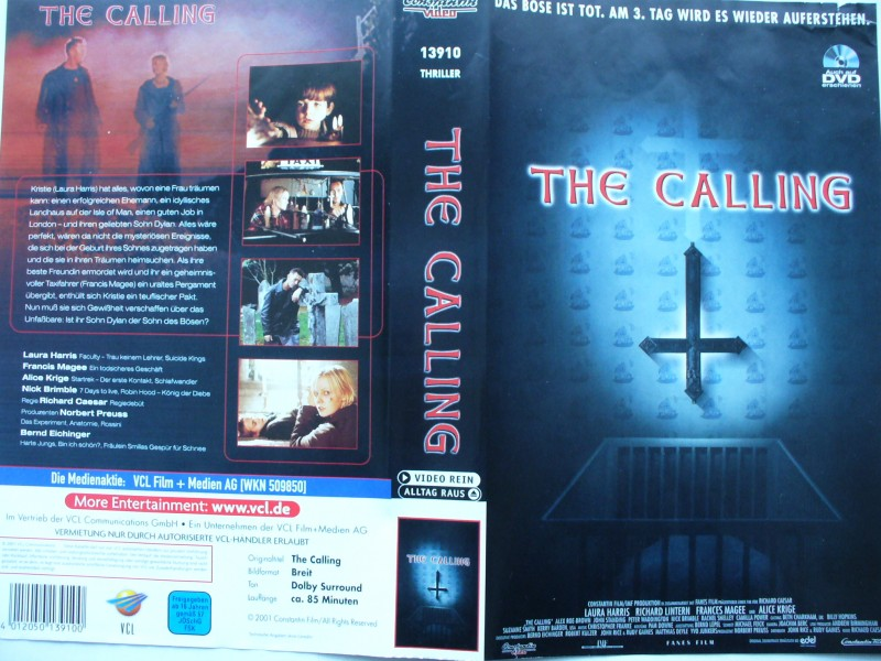 The Calling ... Laura Harris, Francis Magee ...  VHS !!!