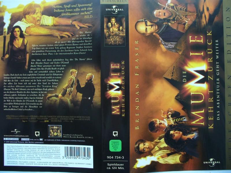 Die Mumie kehrt zurück ... Brendan Fraser ... Widescreen Ed.