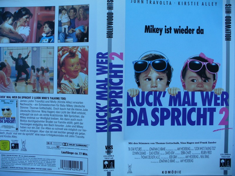 Kuck´mal wer da spricht 2  ...  John Travolta  ...  VHS !!!