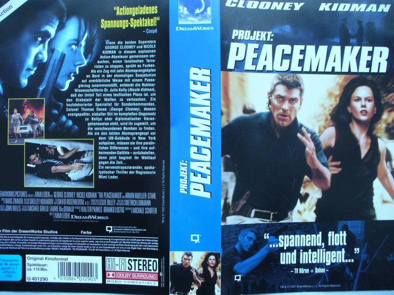 Projekt : Peacemaker ... George Clooney  ... VHS !!