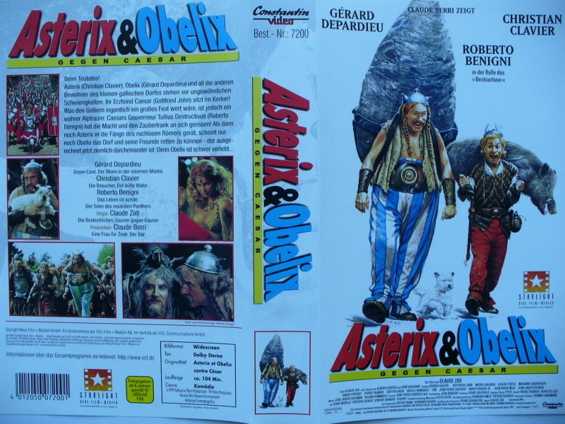 Asterix & Obelix gegen Caesar ... Gérard Depardieu ... VHS