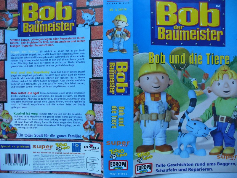 Bob der Baumeister - Bob und die Tiere ... VHS !!