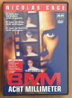 8 MM Acht Millimeter DVD Nicolas Cage/Joel Schumacher Snuff