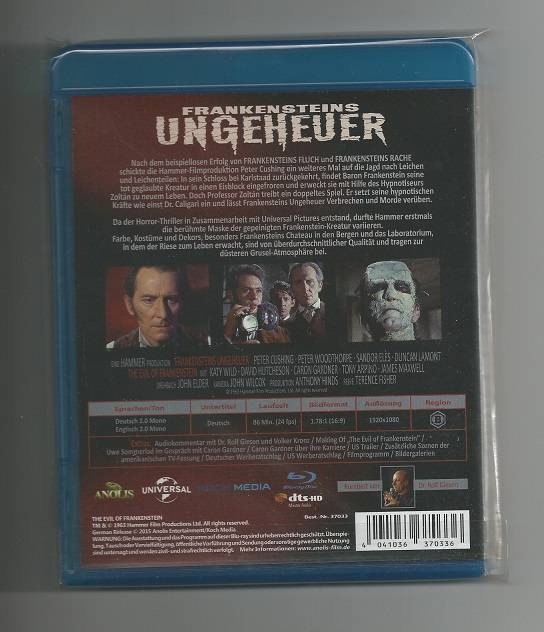 FRANKENSTEINS UNGEHEUER (Peter Cushing) # Blu-ray + uncut