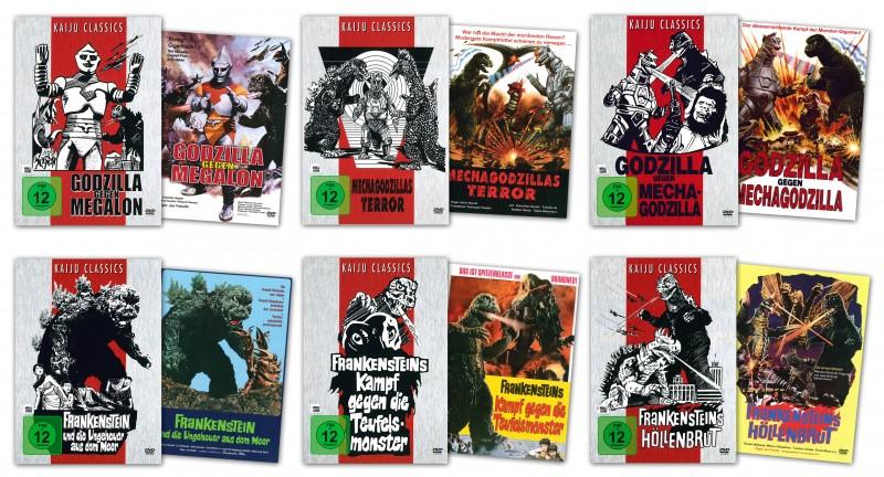 Kaiju Classics - Godzilla Reihe mit 6 DVDs