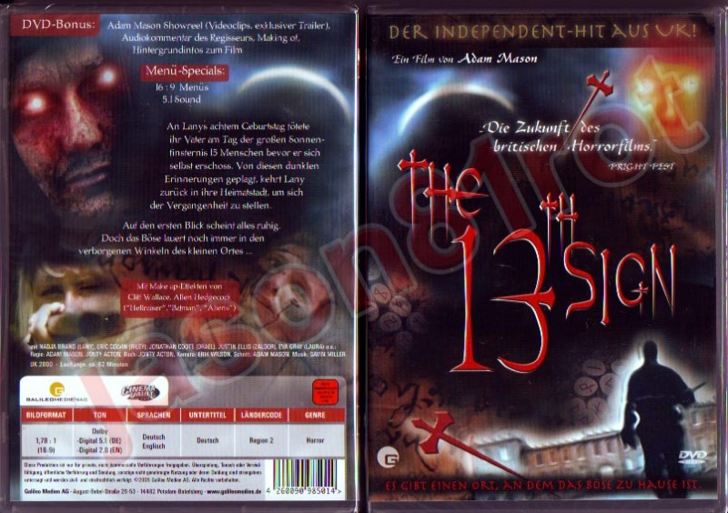The 13th Sign / DVD NEU OVP uncut
