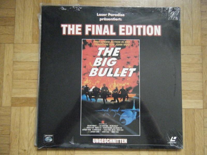 The Big Bullet FINAL uncut EDITION Laserdisk NEU & OVP