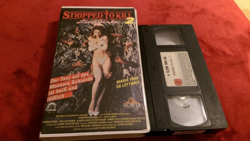 Stripped To Kill 2 Live Girls Vhs Erstauflage