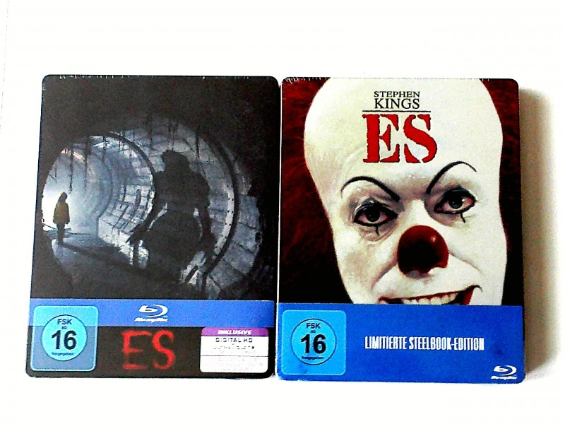 ES(STEPHEN KING)+REMAKE LIM. BLURAY STEELBOOK  UNCUT