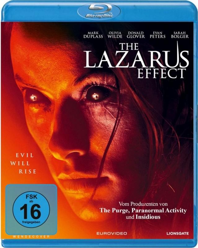THE LAZARUS EFFECT (TOP HORROR FILM) BLURAY - UNCUT