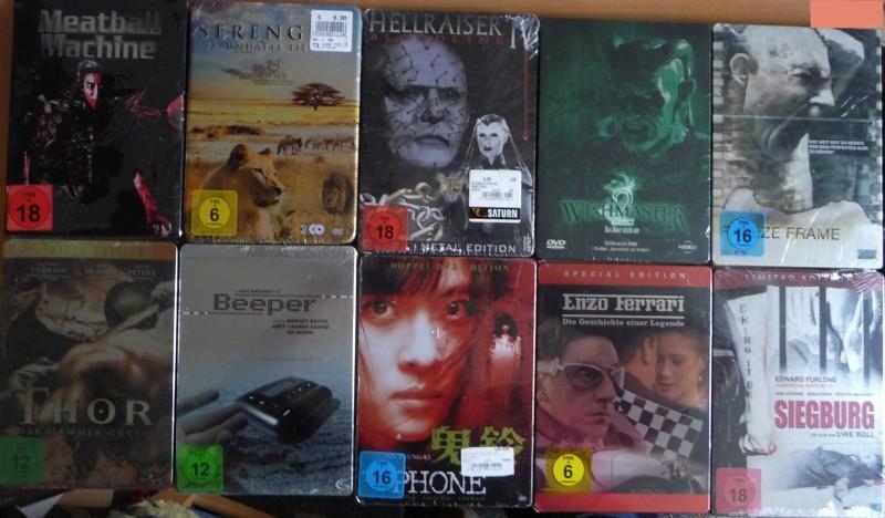 10 * DVD Sammlung - Metalpack (NEU & EINGESCHWEIßT)