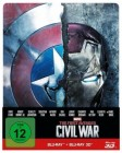 The first Avenger - Civil War 3D: 3D+2D, Steelbook NEU