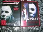 HALLOWEEN IV DVD + HALLOWEEN V DVD NEU OVP