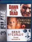 DAWN OF THE DEAD + DEAD SILENCE + VERBOTENE SCHLÜSSEL 3x BD