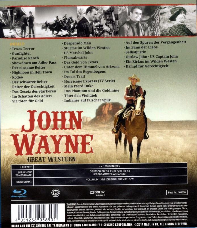 JOHN WAYNE Great Western SD  Blu-ray 32 Filme 1280 Minuten!