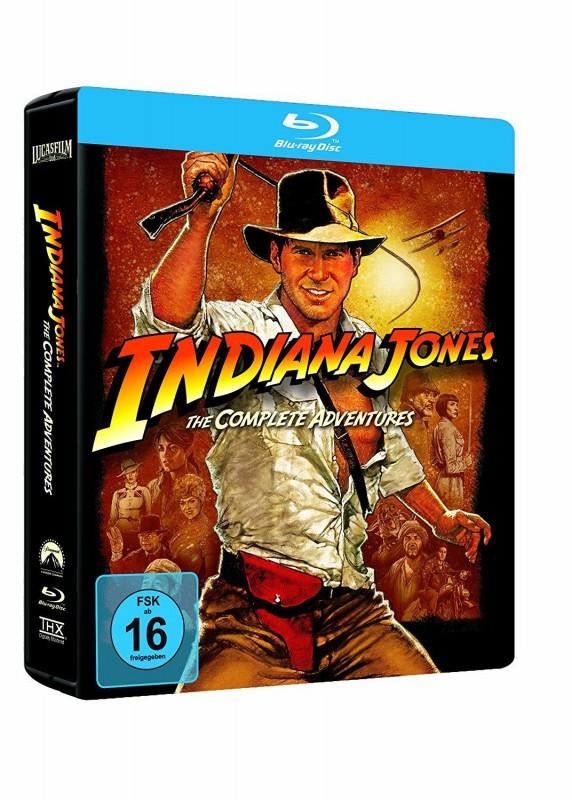 Indiana Jones 1-4 Complete Adventures STEELBOOK Blu-ray NEU