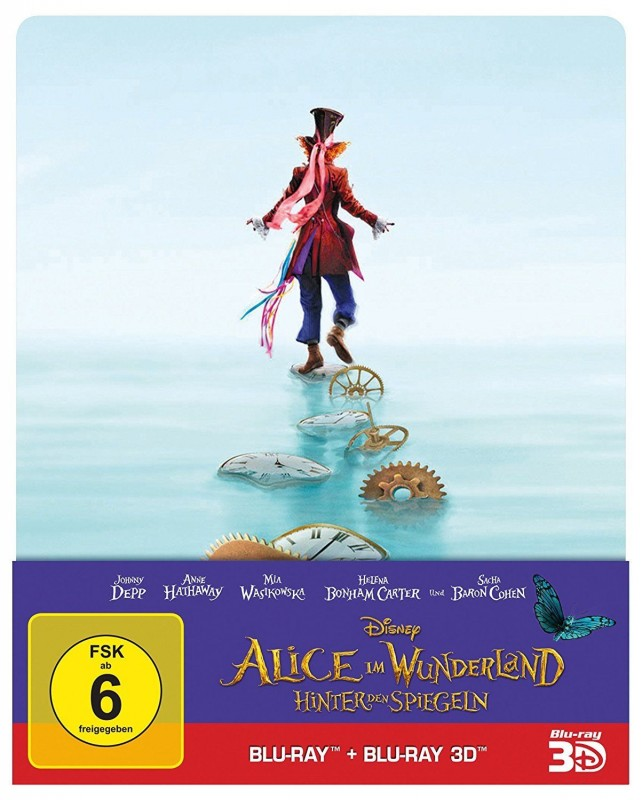 Alice im Wunderland - Hinter den Spiegeln 3D BR Steelbook NE