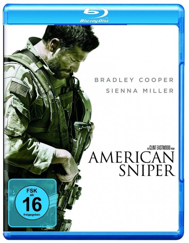 American Sniper Blu-ray Bradley Cooper, Clint Eastwood NEU