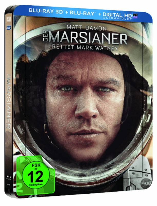 Der Marsianer Steelbook 3D+2D Blu-Ray Selten NEU