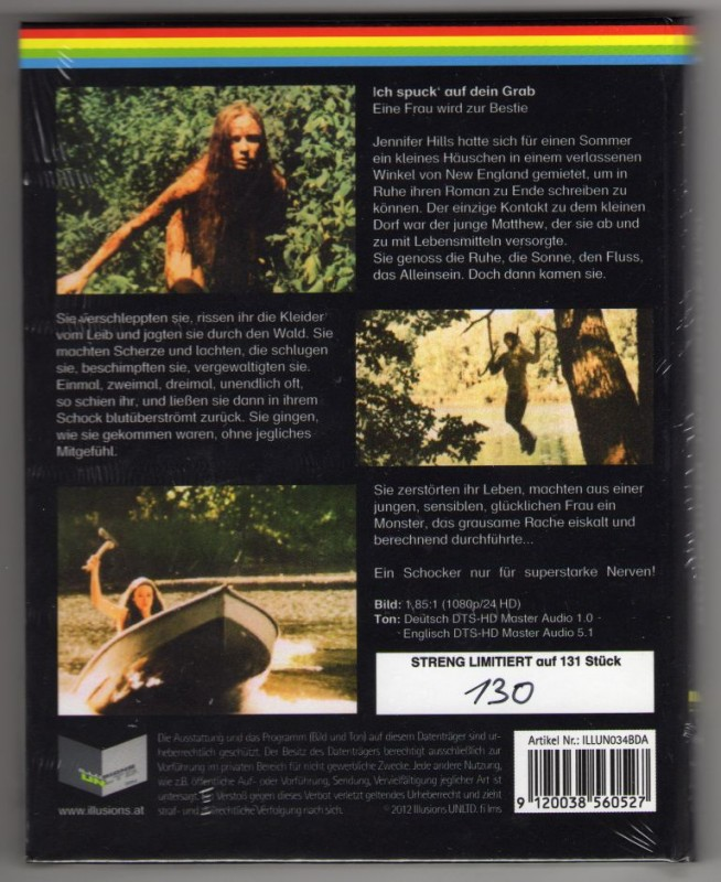 I Spit on your Grave A kleine Hartbox Limited 131 Neu Bluray
